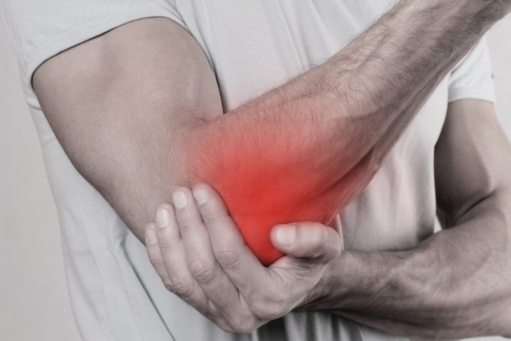 pain in the elbow from exercising