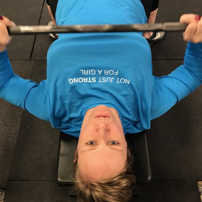 bench press, not just strong for a girl