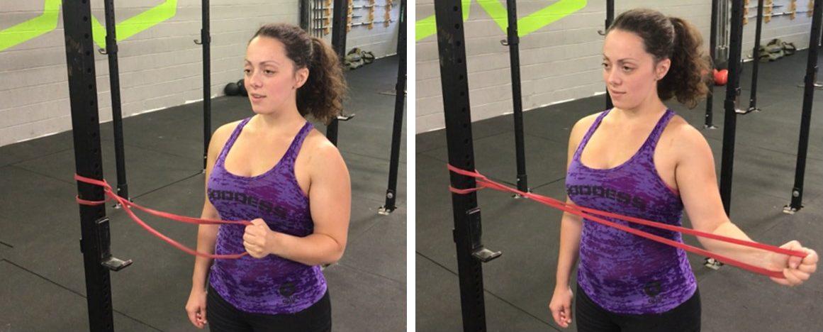 shoulder pain exercises, shoulder band exercises, treating shoulder pain