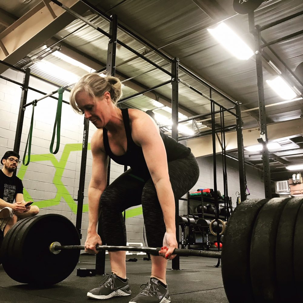 HIIT, deadlift, woman, motivation, positive self-talk