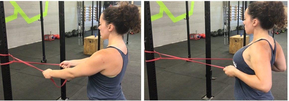 scapular retraction exercise, shoulder pain prevention, shoulder injury exercise