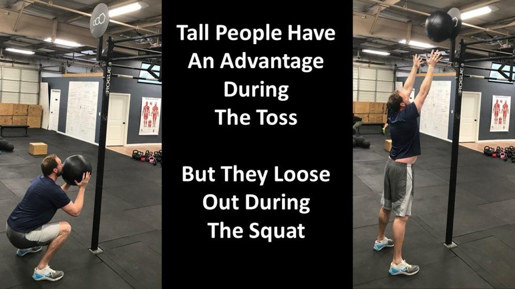 tall people wall balls; short people wall balls