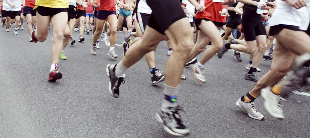 marathon running increases risk of infection.